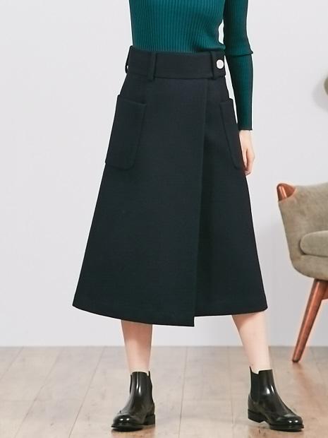Aラインラップスカート
