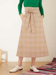 Abahouse Devinette - グレンチェックラップスカート