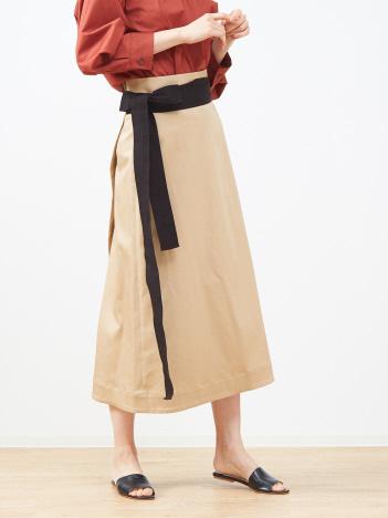 バックラップスカート(無地)