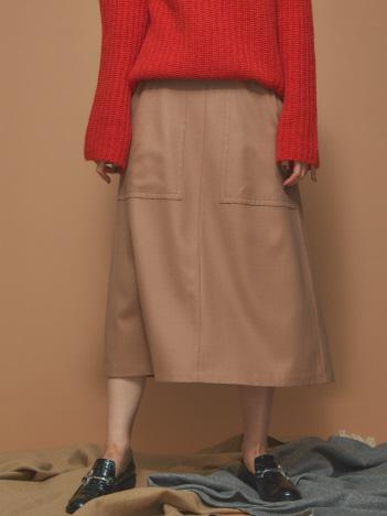 ウールビッグポケットスカート