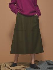 Abahouse Devinette - ウールビッグポケットスカート