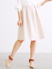 Rouge vif la cle - グログランタックギャザースカート