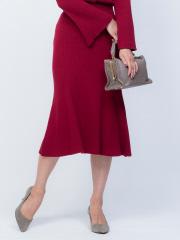 Rouge vif la cle - リブニットスカート