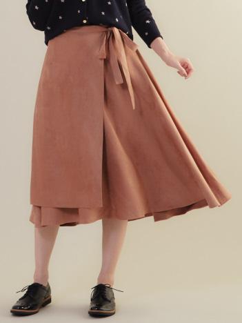 MICA&DEAL ラップ風アシンンメトリースカート