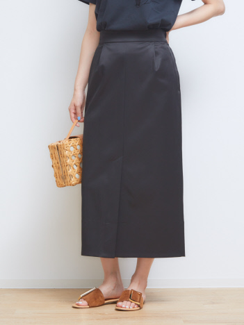 OUTLET (Ladie's) - サテンストレッチスカート