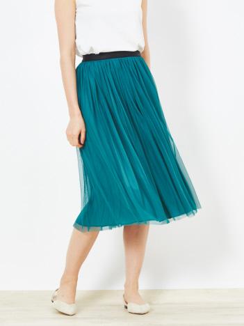 【Yangany】チュールサテンリバーシブルスカート