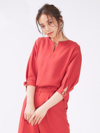 Rouge vif la cle - 袖バックルブラウス