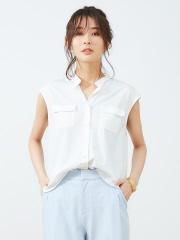 Rouge vif la cle - スタンドカラーカットシャツ
