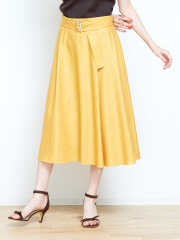 Rouge vif la cle - ベルト付きフレアスカート