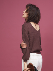Rouge vif la cle - 【BAILA×佐藤佳菜子コラボ】バックシャンニット