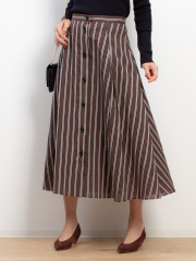 Rouge vif la cle - 釦付きストライプタイトスカート