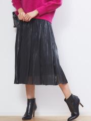 サテンギャザースカート2