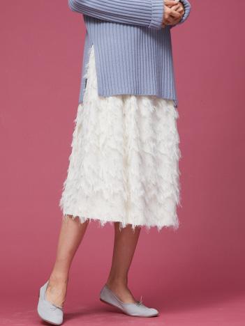 Rouge vif la cle - フェザージャガードスカート