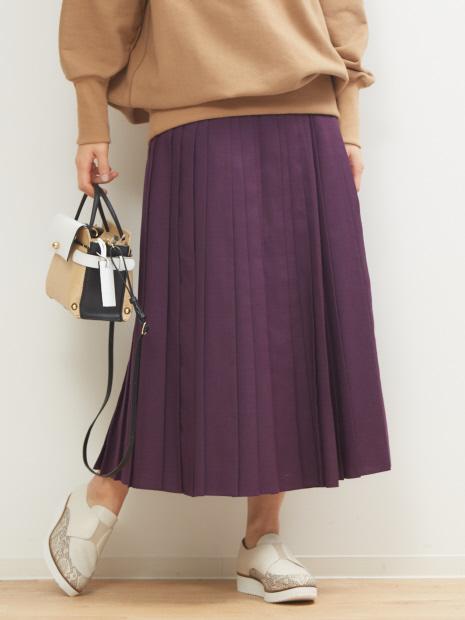 ウールライクプリーツスカート
