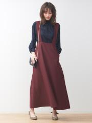 Rouge vif la cle - 【展開店舗限定】ツイルサスペンダースカート