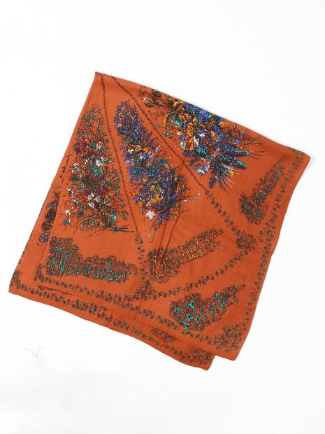 manipuri seasonal flowerスカーフ