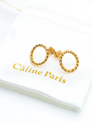 Caline Paris chain hoop ピアス