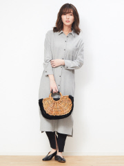 【WEB限定 MICA&DEAL】ロングシャツワンピース