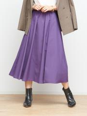 Rouge vif la cle - フロントギャザーフレアースカート