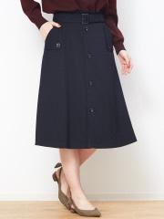 Rouge vif la cle - ベルト付きトレンチ風スカート