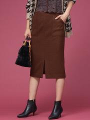 ウール混ポケット付きタイトスカート