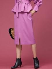 Rouge vif la cle - ウールライクタイトスカート
