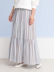 Rouge vif la cle - ラメストライプギャザースカート