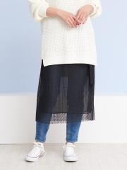 Rouge vif la cle - ドットチュールオーバースカート【予約】
