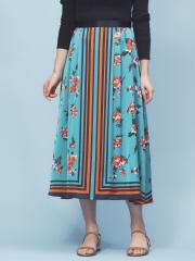 Rouge vif la cle - スカーフプリントスカート