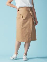Rouge vif la cle - ポケット付ラップスカート【予約】