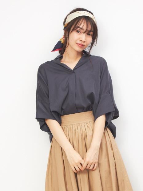 【MICA&DEAL】WEB限定スキッパーシャツ