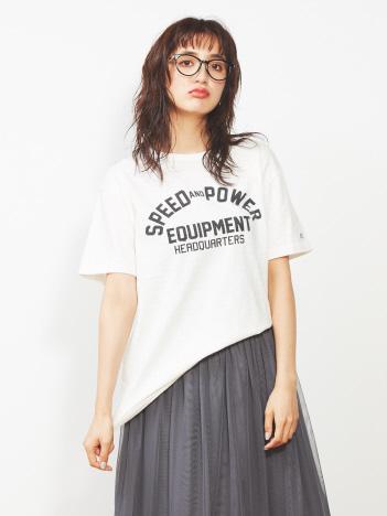 【Champion】クルーネックロゴTシャツ