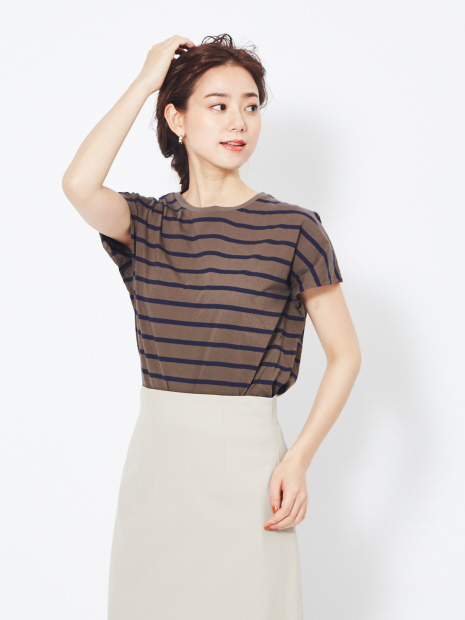 【MICA&DEAL】バックスリットTシャツ