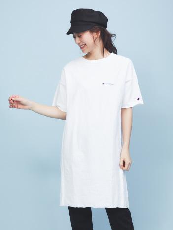 【Champion】ロゴTシャツワンピース