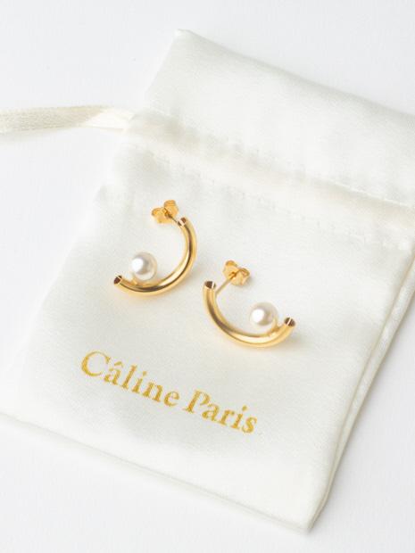Caline Paris crescentパールピアス【予約】