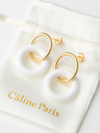 Caline Paris vintageリングピアス