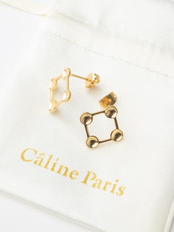 Caline Paris 変形squareピアス