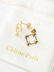Rouge vif la cle - Caline Paris 変形squareピアス