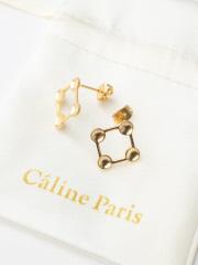Rouge vif la cle - Caline Paris 変形squareピアス
