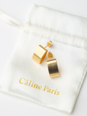Rouge vif la cle - Caline Paris ゴールドピアス