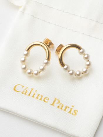 Caline Paris パールピアス