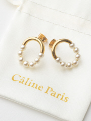 Rouge vif la cle - Caline Paris パールピアス