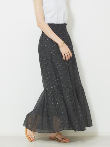 OUTLET (Ladie's) - 【Yangany】ラメドットジャガードマキシスカート