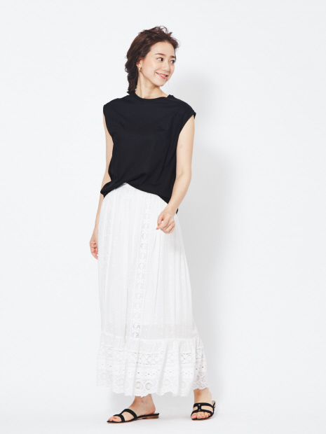 【ne Quittez pas/ヌキテパ】ドットレーススカート