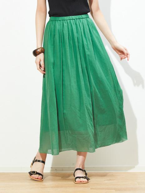 ギャザーロングスカート【予約】