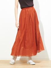 Rouge vif la cle - ギャザーロングスカート