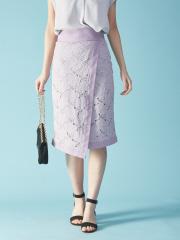 Rouge vif la cle - レースラップタイトスカート