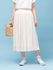 【定番新色】サテンギャザースカート2