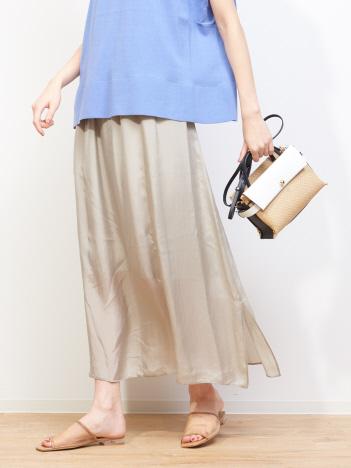 キュプラギャザースカート