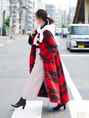 Rouge vif la cle - チェックコート【予約】
